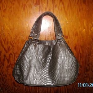 """Old Navy"" Large Lizard Tote [faux]"